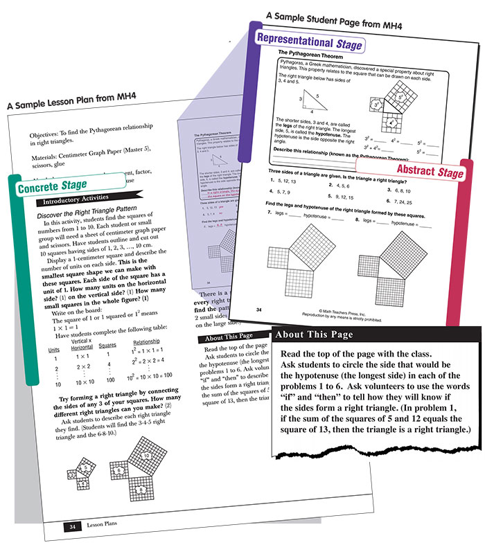 Sample Lesson For Mh Grades 7 8 Moving With Math Rti Math
